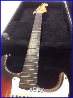 1963 fender stratocaster vintage players guitar withhard case used electric guitars. Black Bedroom Furniture Sets. Home Design Ideas