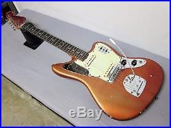1965 Fender Jaguar Guitar Candy Apple Red L-Series Matching Headstock Case