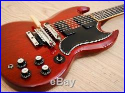 1965 Gibson SG Special Vintage Electric Guitar Cherry with Maestro Vibrola, Case