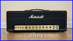 1972 Marshall JMP Tremolo 50 1987T Vintage Small Box Tube Amp Head EL34 with Ftsw