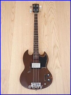 1973 Gibson EB-4L Vintage Full Scale SG Electric Bass Guitar Walnut EB-0