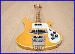 1977 Rickenbacker 4001 Vintage Electric Bass Guitar Mapleglo with Case, 4003