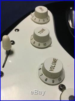 1990 Fender American Standard Stratocaster Black Ebony USA Electric Guitar