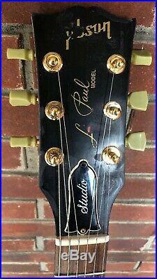 1995 Gibson Les Paul Studio Model W Custom Natural/White Paint Job. Nice