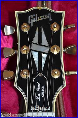 2001 Gibson Les Paul Custom Black Beauty Electric Guitar With OHSC PLAYER