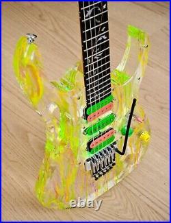 2007 Ibanez JEM 20th Anniversary Steve Vai Signature Acrylic Guitar, Case & Tags