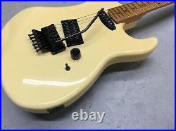 80s Kramer Japan JK 1000 Electric Guitar Cream White Maple Reverse
