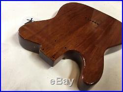 80s Warmoth Telecaster Natural Mahogany Electric Guitar Body USA