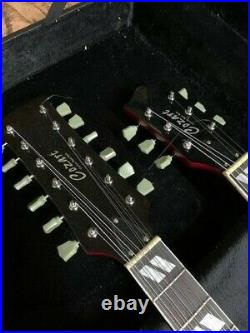 Blem Great Playing Sg Style 12/6 Double Neck Trans Red Electric Guitar