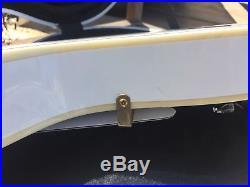 Burny Fernandes Les Paul RLC-55 white with SKB hardshell case ex shape lawsuit