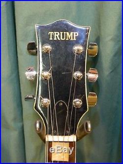 C. 1975 Trump Les Paul Custom Copy, MIJ, Vintage Japan, Rare! Worldwide Shipping