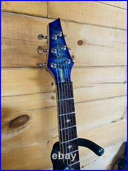 Carvin Kiesel USA Custom SCB6T Blue Quilt Electric Guitar with Case