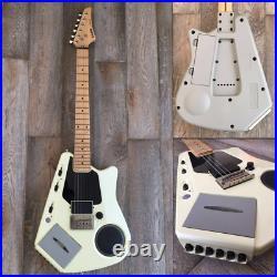 Casio EG-5 EleKing Guitar White with Cassette Speaker USED GC from Japan