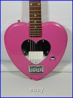 Daisy Rock Heartbreaker Short Scale Electric Guitar Pink Heart RARE