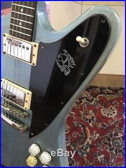 Epiphone Firebird Pelham Blue Electric Guitar with Hard Case