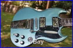 Epiphone by Gibson Les Paul Custom SG Pelham Blue Fat Neck Rare Mint 2013