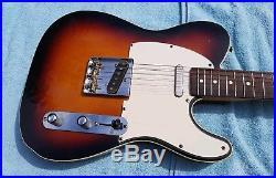 Fender 62 Re-issue Telecaster Custom MIJ Double Bound, Sunburst, Japan, upgrades