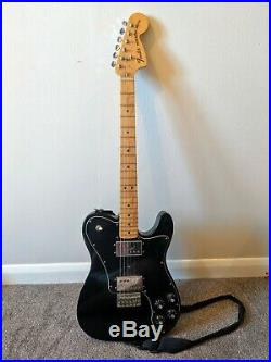 Fender'72 Telecaster Deluxe (Black) Mexican Electric Guitar. Strap & Case inc