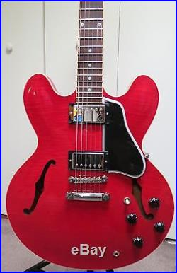 Gibson ES-335 2011, Flame Cherry Top  Grover Tuners