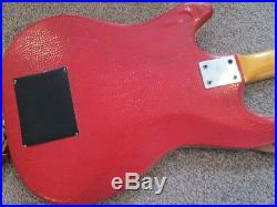 Hofner 173 c. 1963 red''snake skin'' vinyl very rare model