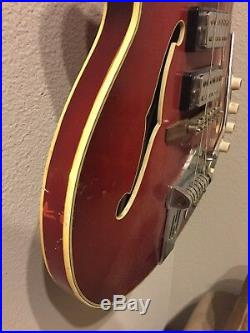 Hofner 4575 Verythin Semi Acoustic Electric Guitar Cherry Red (1960s)