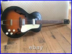 Kay 6535 1961 Tobacco Sunburst Archtop Guitar with Double Pickup & free gig bag
