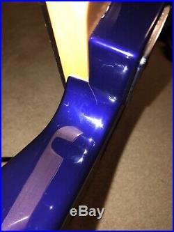 Kramer Imperial Explorer Floyd Rose Guitar Blue Purple Finish EMG HZ Pickups