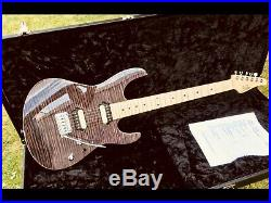 Suhr Modern Maple Trans Black AAA HH Custom Order Aldrich Zebra 510 Tom Anderson