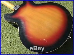 Vintage 1960's Vox Bobcat Hollowbody Electric Guitar