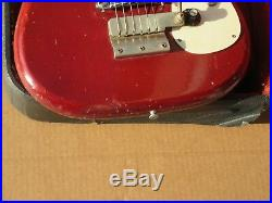Vintage 1965 Red Epiphone Olympic Bat Wing Headstock