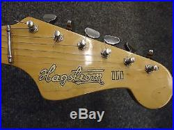 Vintage 60's Hagstrom III Sweden 6 String Electric Guitar Sunburst WithCase