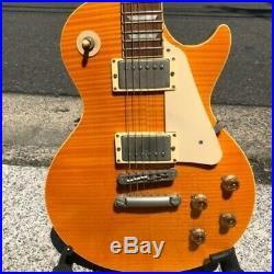 Vintage Burny Lemon Drop Les Paul Type Electric Guitar With Soft Case