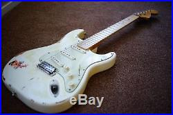 WARMOTH FENDER STRATOCASTER AGED RELIC'D ROAD WORN WithTEX MEX FIXED