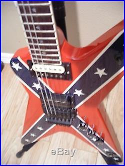 washburn usa dimebag darrell dime 3 confederate autographed guitar used electric guitars. Black Bedroom Furniture Sets. Home Design Ideas